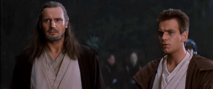 Obi Wan and Qui Gon confused
