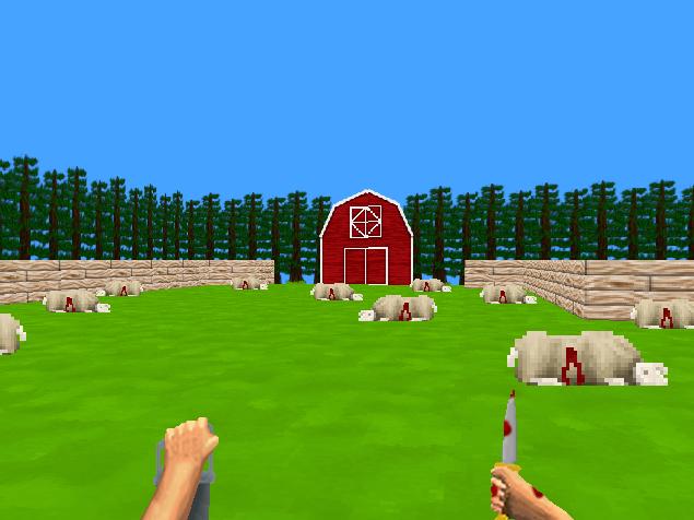 sheep stabbed